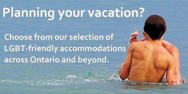 Choose from our selection of gay-friendly accommodations across Ontario and beyond.